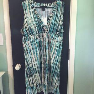 NWT Blue and white Dress Calvin Klein Jean XL!!